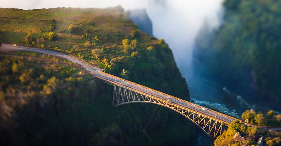 Bungee Sprung Victoria Falls Brücke