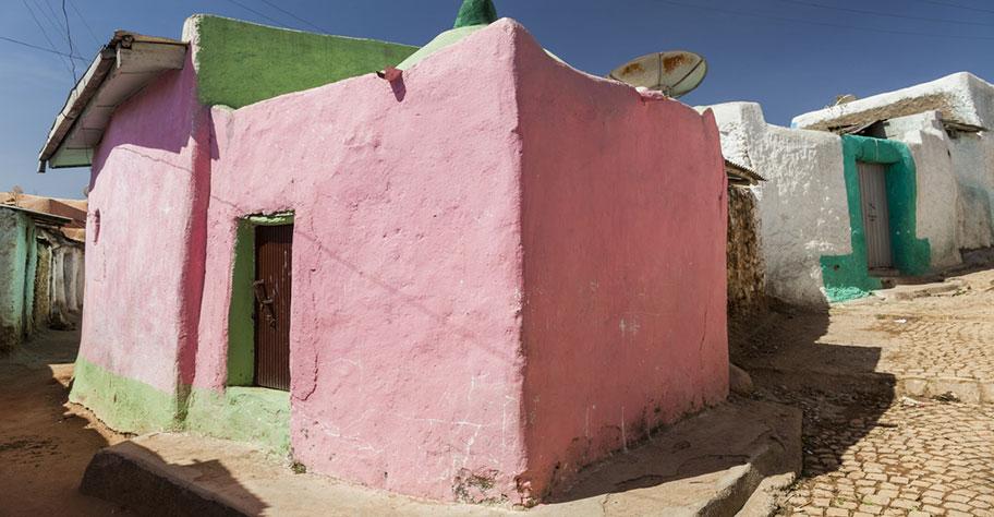 äthiopien kultur weltkulturerbe farbig stadt harar