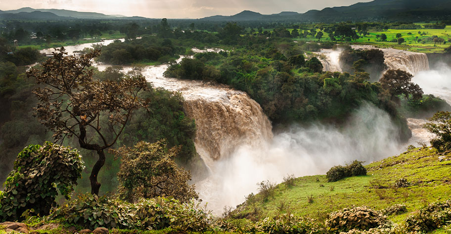 äthiopien wasserfälle nil fast so hoch wie victoria falls