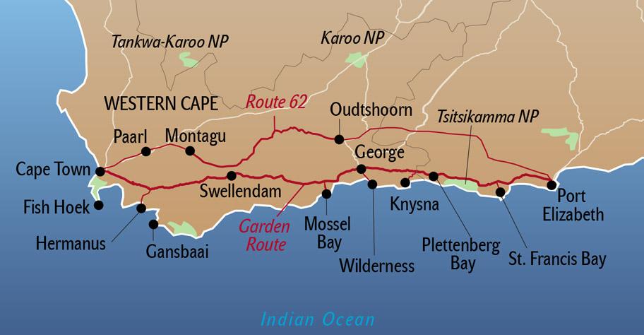 Garden Route Südafrika nicht privatesafaris.ch
