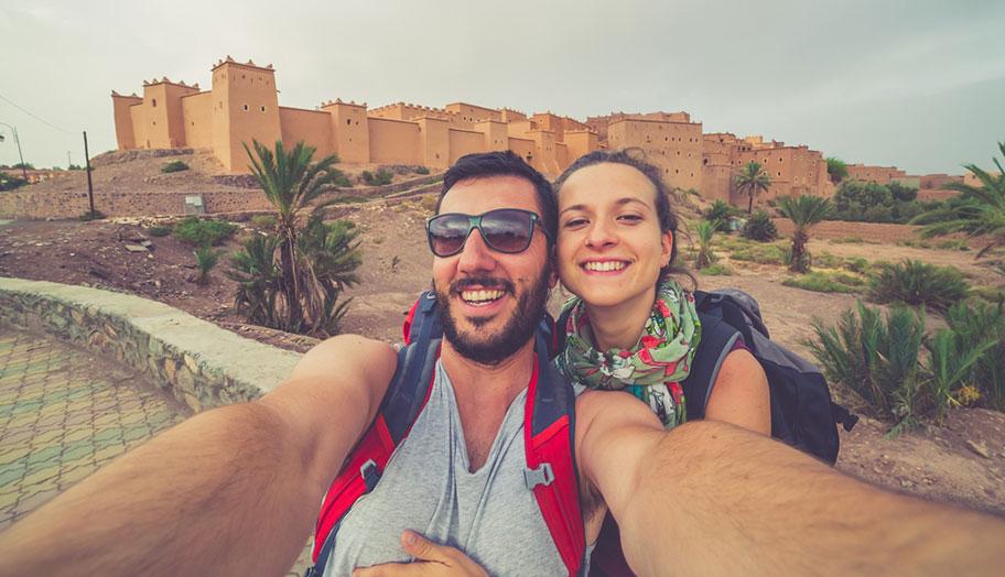 Marokko Honeymoon Reisen Paar Düne