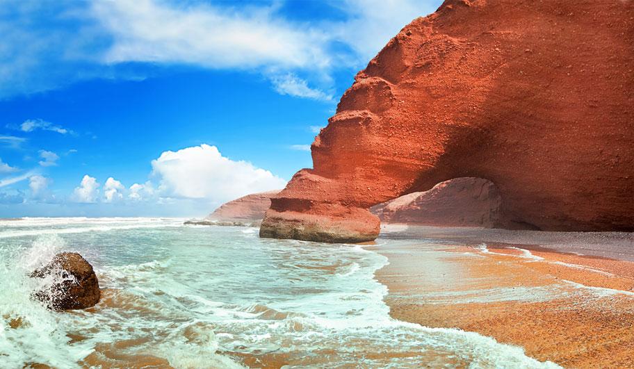 Marokko Flitterwochen Traumstrand