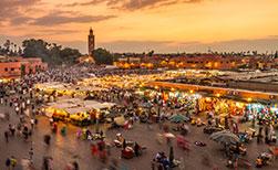 Marrakesch Urlaub Markt Jamaa el Fna