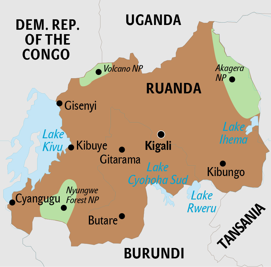 Ruanda Karte