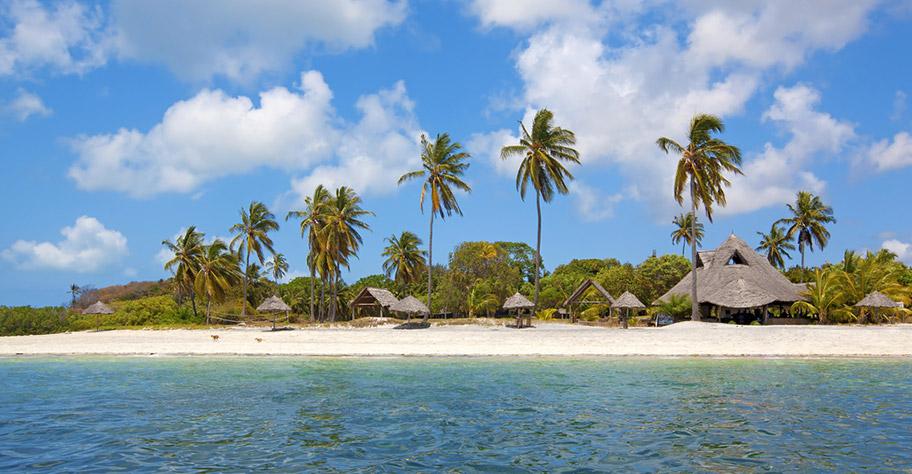 Zanzibar Familenferien - Mafia Island Aerial Aufnahme
