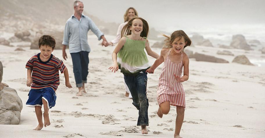 südafrika ferien mit kindern, strand, familie, nicht hotelplan