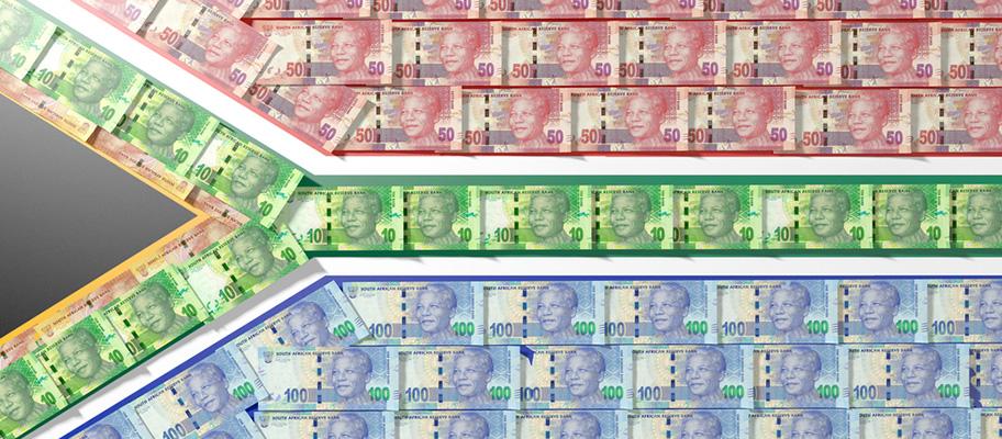 Südafrika Währung Banknoten Rand