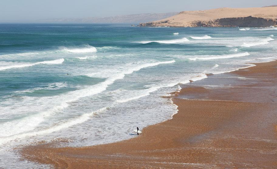 Surf Reisen Marokko Tamri beach