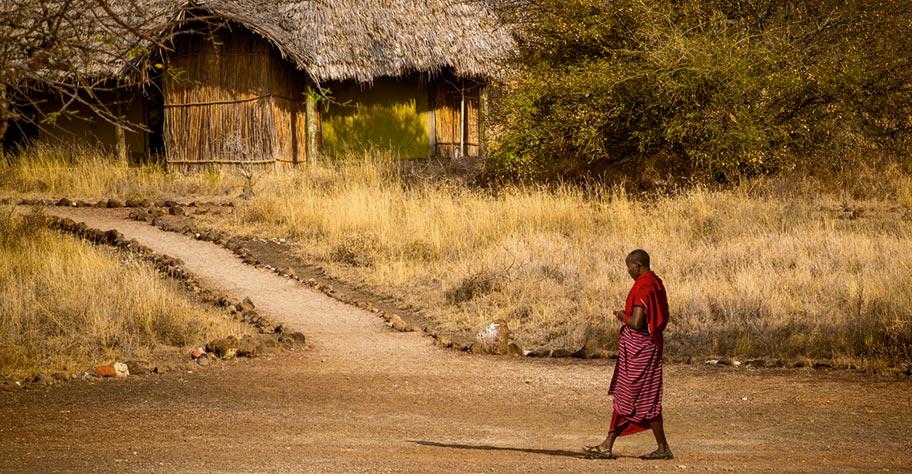 Tanzania mit Kindern Massai