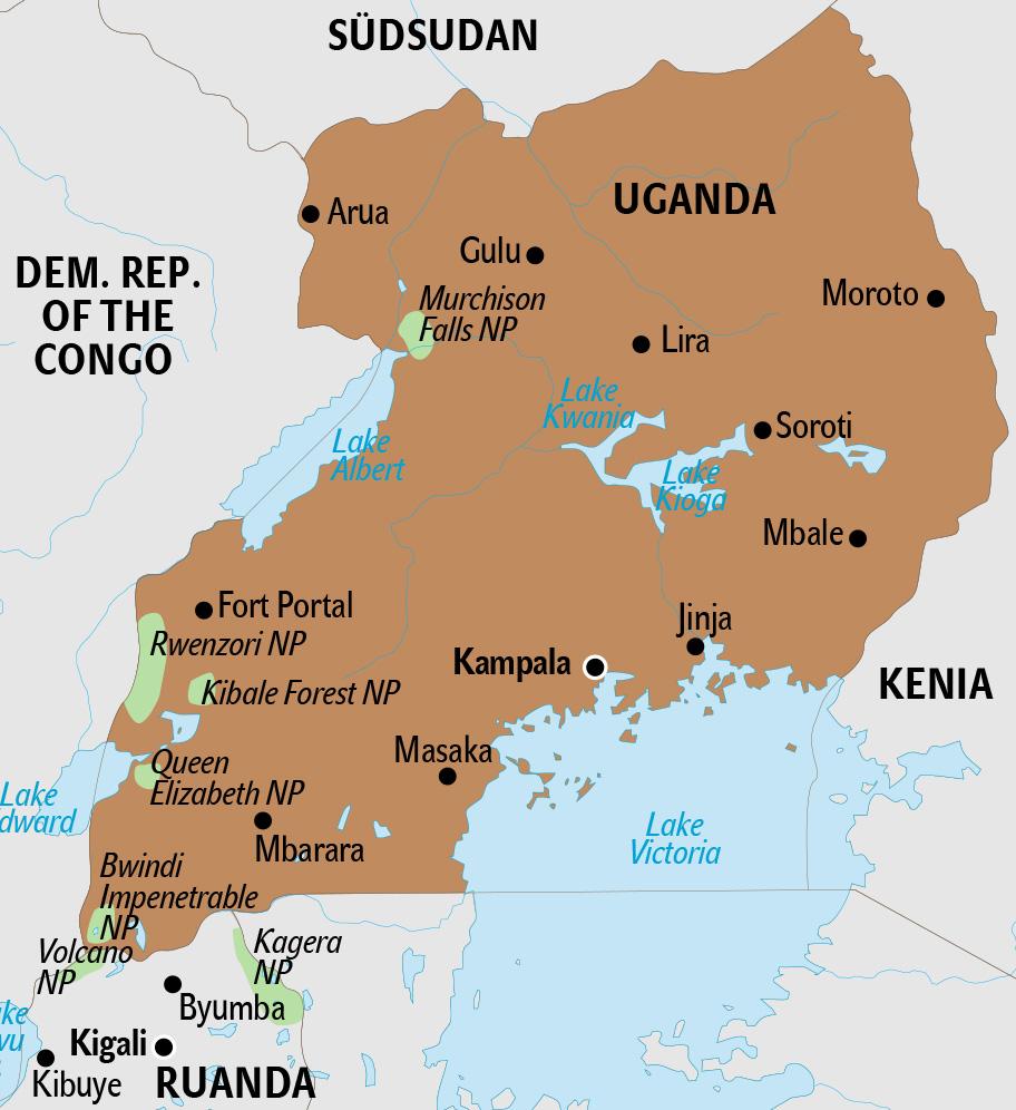 Uganda Karte