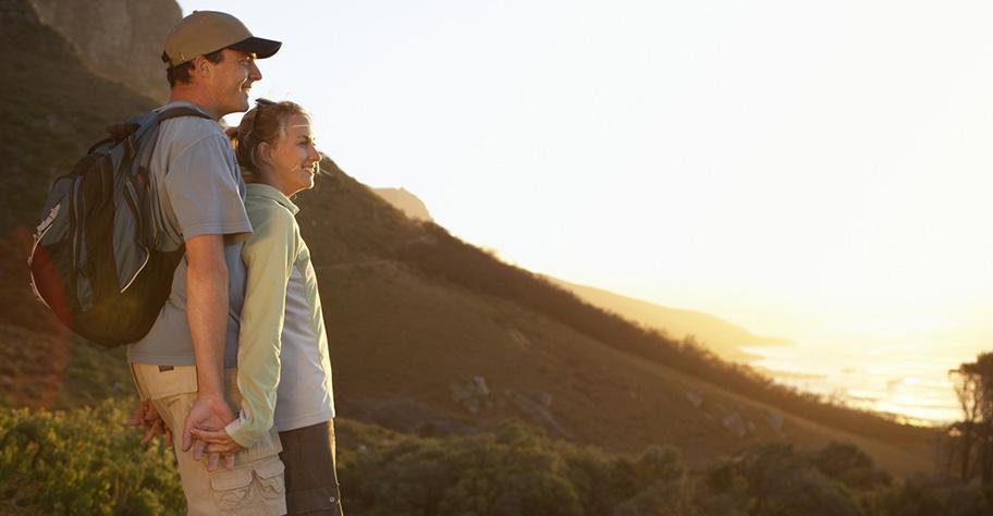 Paar Wanderung Südafrika